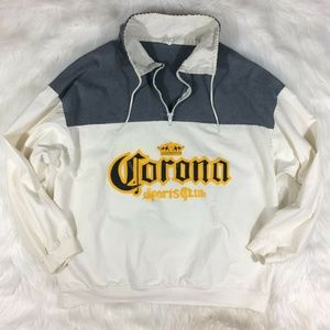 Vintage Corona Spell Out Pullover Jacket Beer